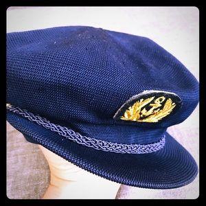 VINTAGE KANGOL DESIGN Navy Captain Knit Cap Hat